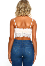 Sophisticated Sass White Lace Crop Top