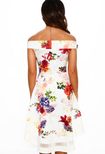 Ivory Floral Occasion Dress