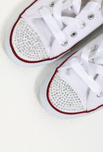 Sparkle Red Diamante Toe Trainers
