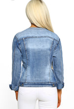 Sparkle Sparkle Blue Pearl Trim Denim Jacket