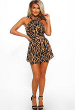 tiger print playsuit