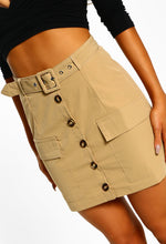 Stone High Waisted Mini Skirt