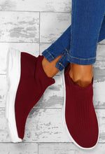Stand Your Ground Burgundy Sock Trainers