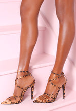 Strut And Shimmer Multi Leopard Print Strappy Heels