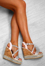 Summer Sass Blush Pink Diamante Strappy Wedges