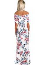Sun Route White Floral Double Split Maxi Dress