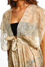 Sunset Chic Natural Snake Print Maxi Cover Up