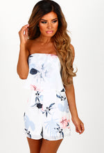 Sunshine Mist White Multi Floral Bandeau Playsuit