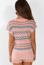 Sweet Sprinkles Pink Multi Shimmer Knitted Tie Top