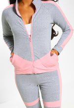 Totally Fierce Grey and Pink Colour Block Lounge Set