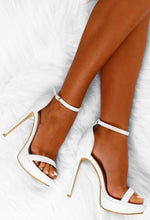 Vacay Fever White Platform Barely There Heels