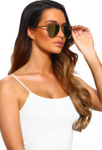Vibing With You Rose Gold Aviator Sunglasses