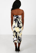 Waikiki Lemon Multi Floral Bodycon Midi Dress