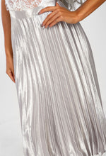 Pleated Silver Skirt - Detail