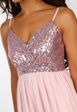 Weekend Glitz Rose Pink Sequin Maxi Dress