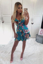 Green Floral Dress - Selfie