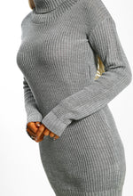 Winter Love Grey Oversized Knitted Jumper Dress