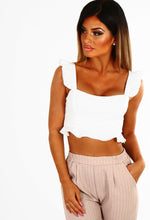 With Love White Frill Crop Top