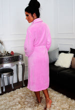 Sugar Plum Pink Soft Fleece Dressing Gown