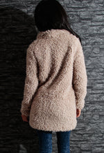 Toasty Nude Fluffy Faux Fur Coat