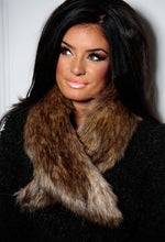 Emma Brown Faux Fur Collar Scarf