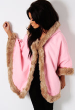 Snow Queen Pink Fur Trim Hooded Cape & Headband