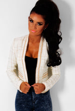 Duchessa Cream and Gold Pearl Embellished Jacket