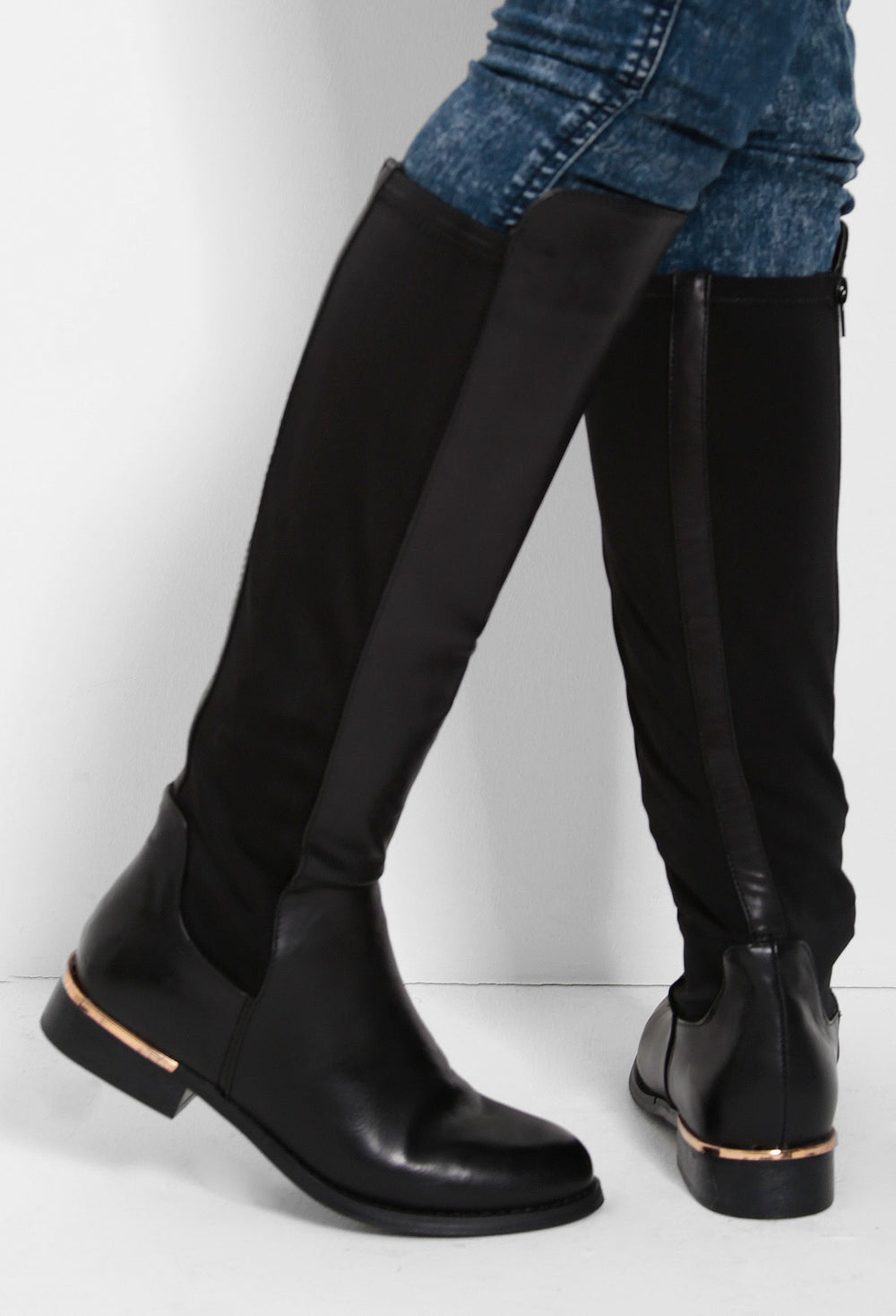 Gold Knee High Boots – Pink Boutique UK