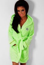 Emily Lime Green South Beach Dressing Gown
