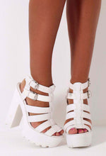 Lyssa White Chunky Platform Sole Sandals