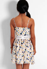 Spring Dream Navy and White Daisy Print Skater Dress
