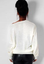 Snug Cream Slouch Knitted Jumper