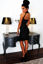 Prague Black Bodycon Bandage Mini Dress