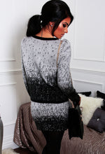 Alaysia Grey and Black Knitted Contrast 2 Piece Set