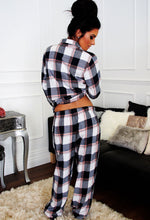 Byrony Blue and White Check Pyjama Pants