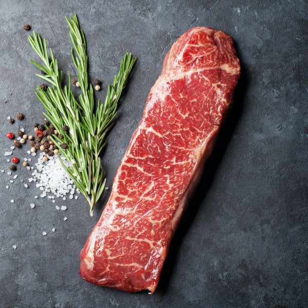 Grass fed strip-loin steak (app. .8 lbs)