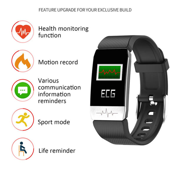 Waterproof T1 Temperature & Health monitoring Bracelet