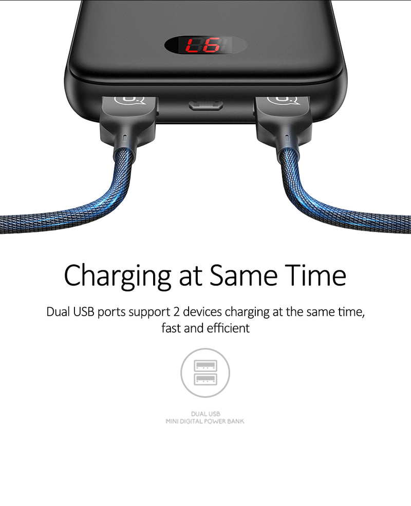 USAMS Fast Charging Mini Power Bank