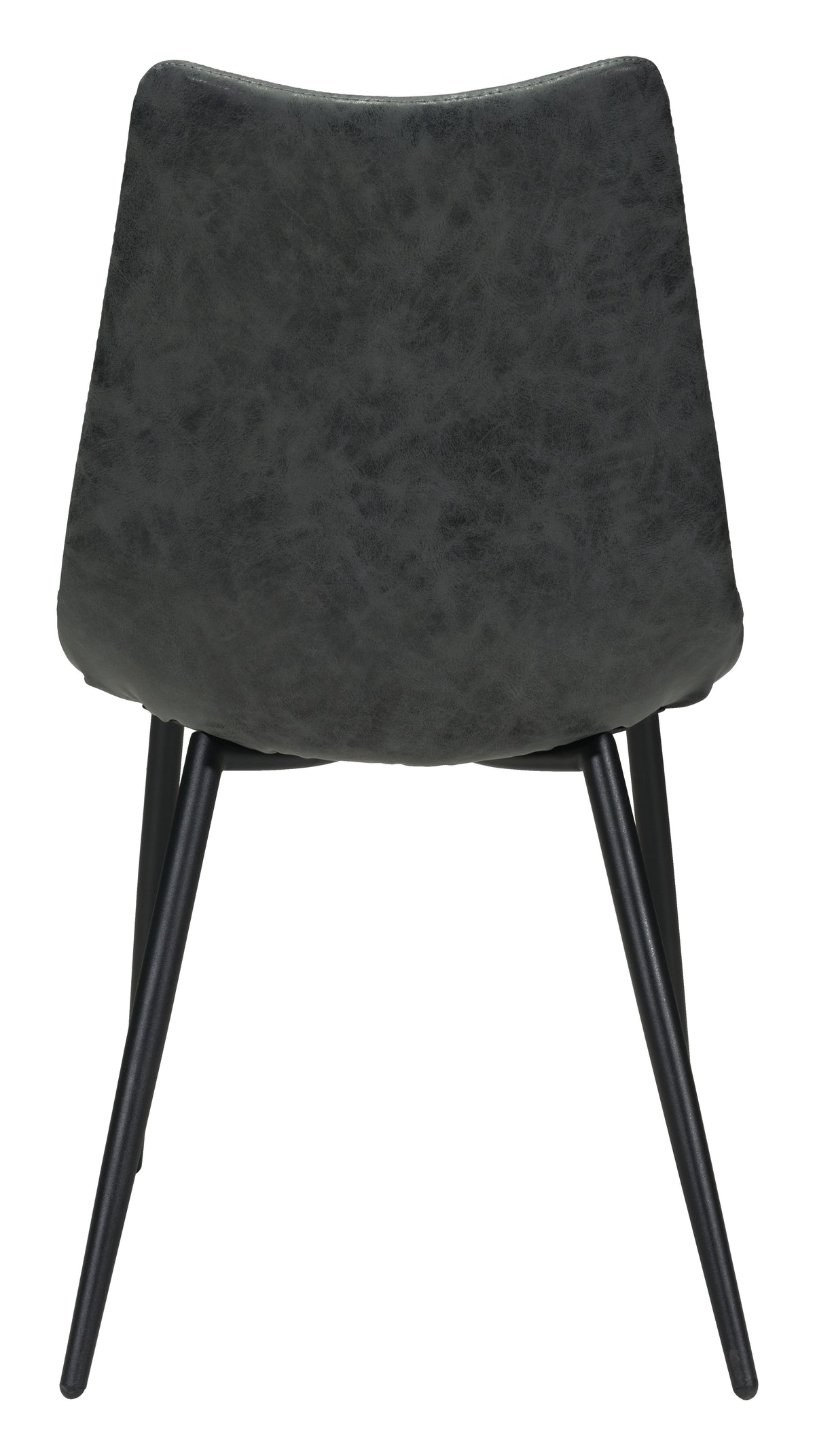 Haro Dining Chair Black Faux Leather - Set of 2
