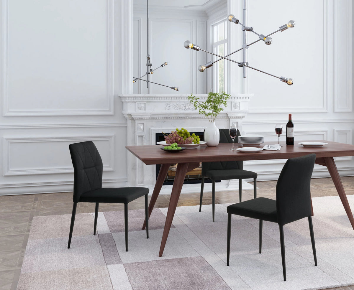 Tezra Dining Chair Black - Set of 4