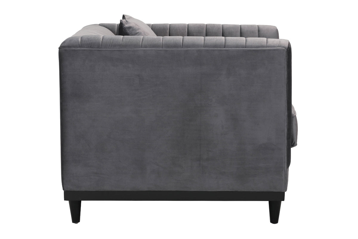 Taza Arm Chair Gray Velvet
