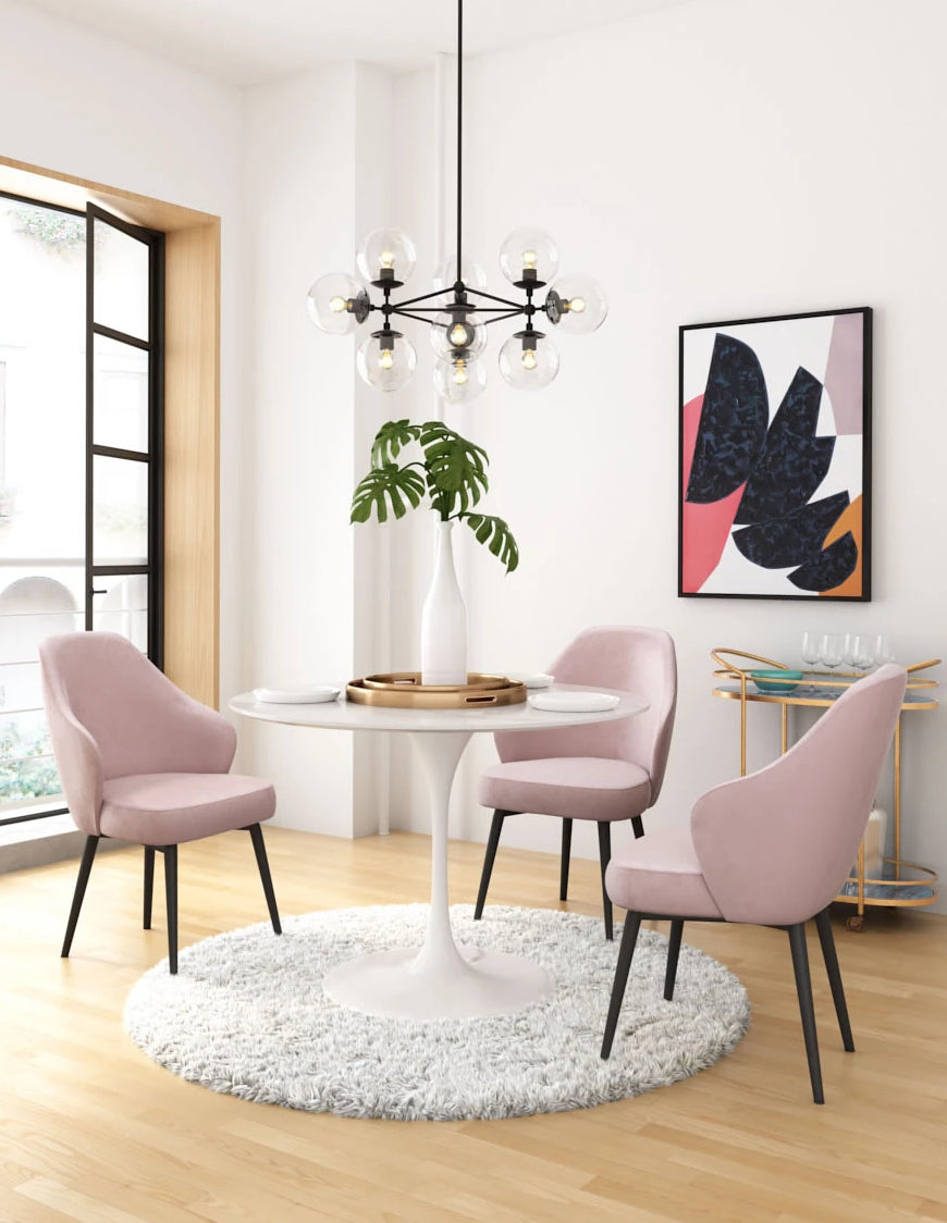 Nimbus Dining Chair Pink Velvet