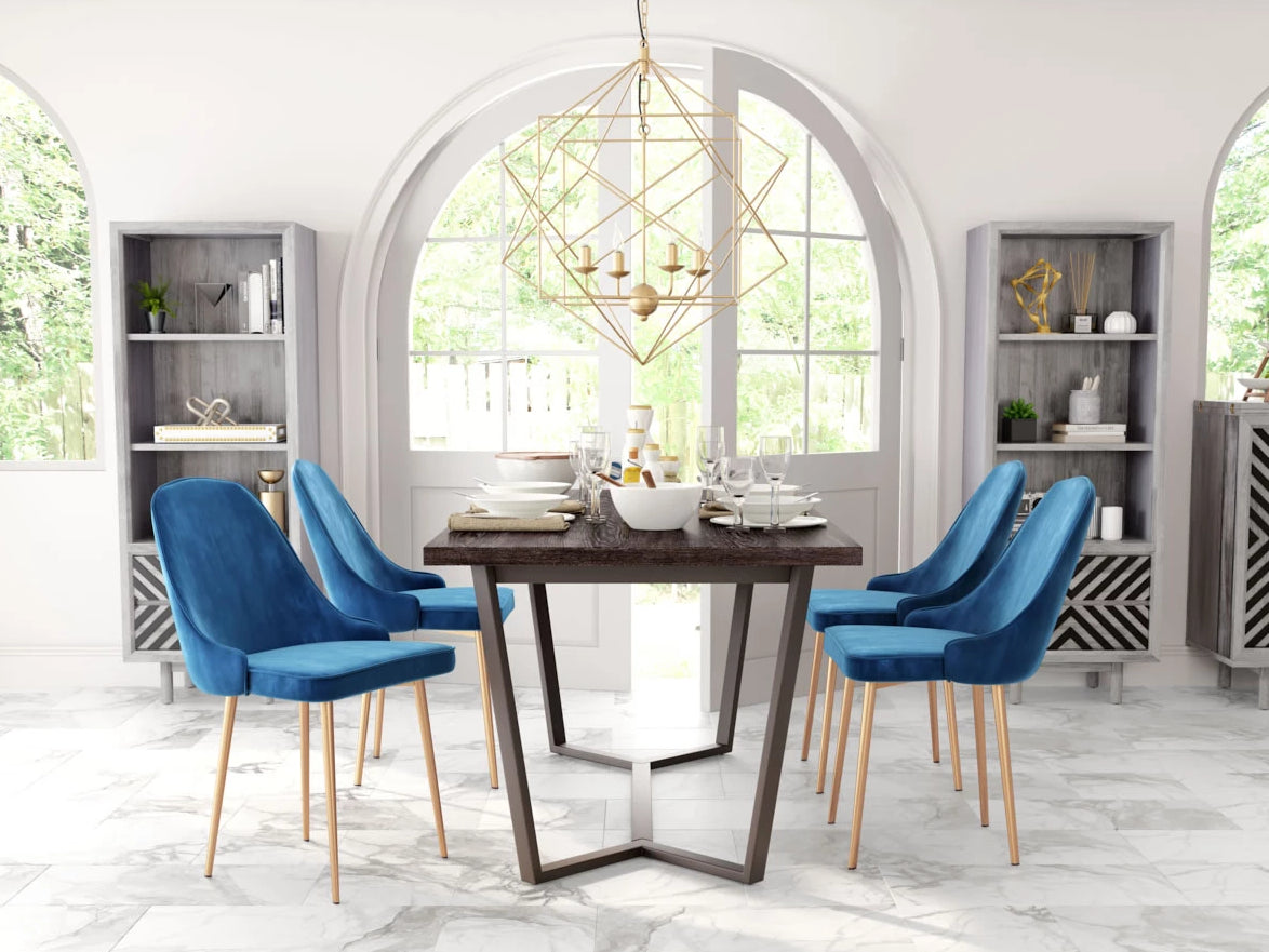 Talitah Dining Chair Blue Velvet