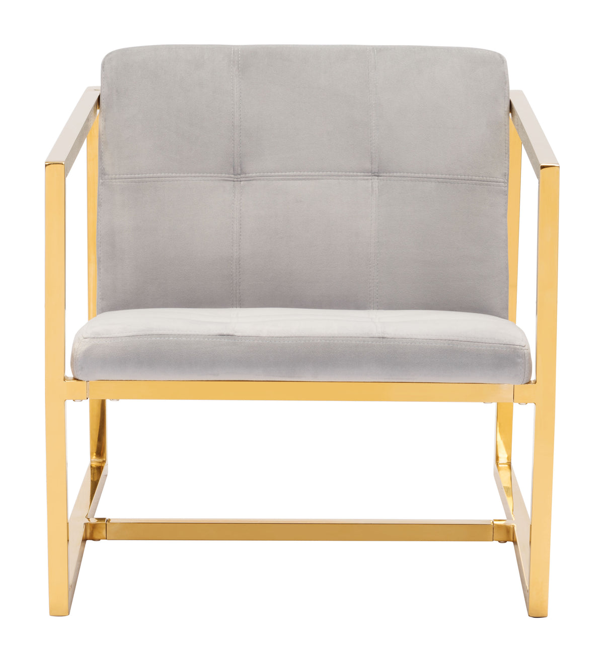 Cado Arm Chair Gray Velvet