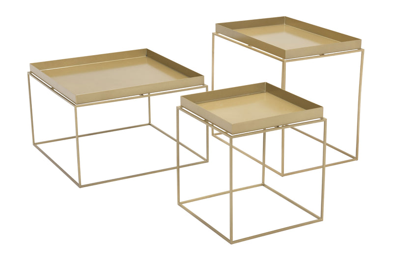 Dot Nesting Table Gold