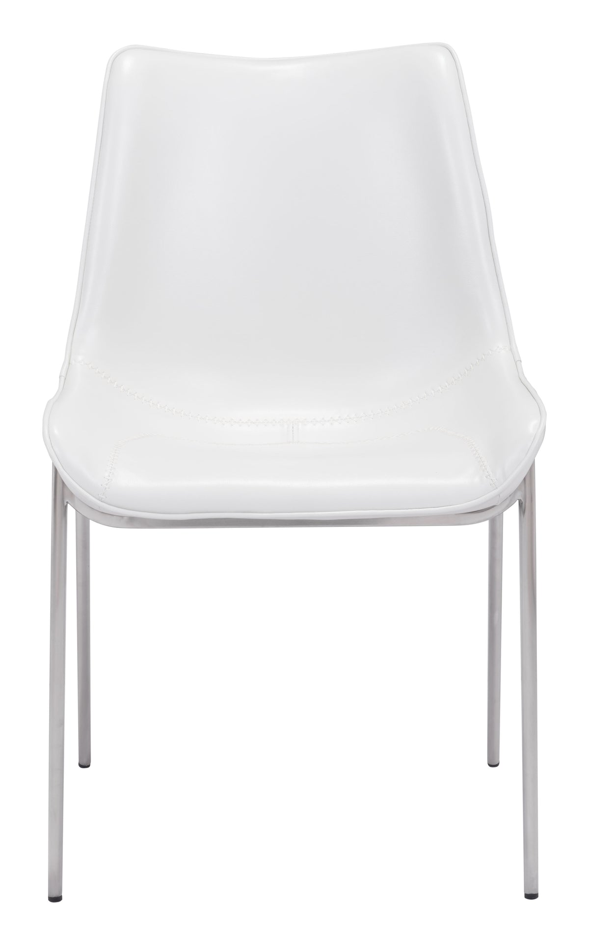 Bori Dining Chair White & Steel - Set of 2