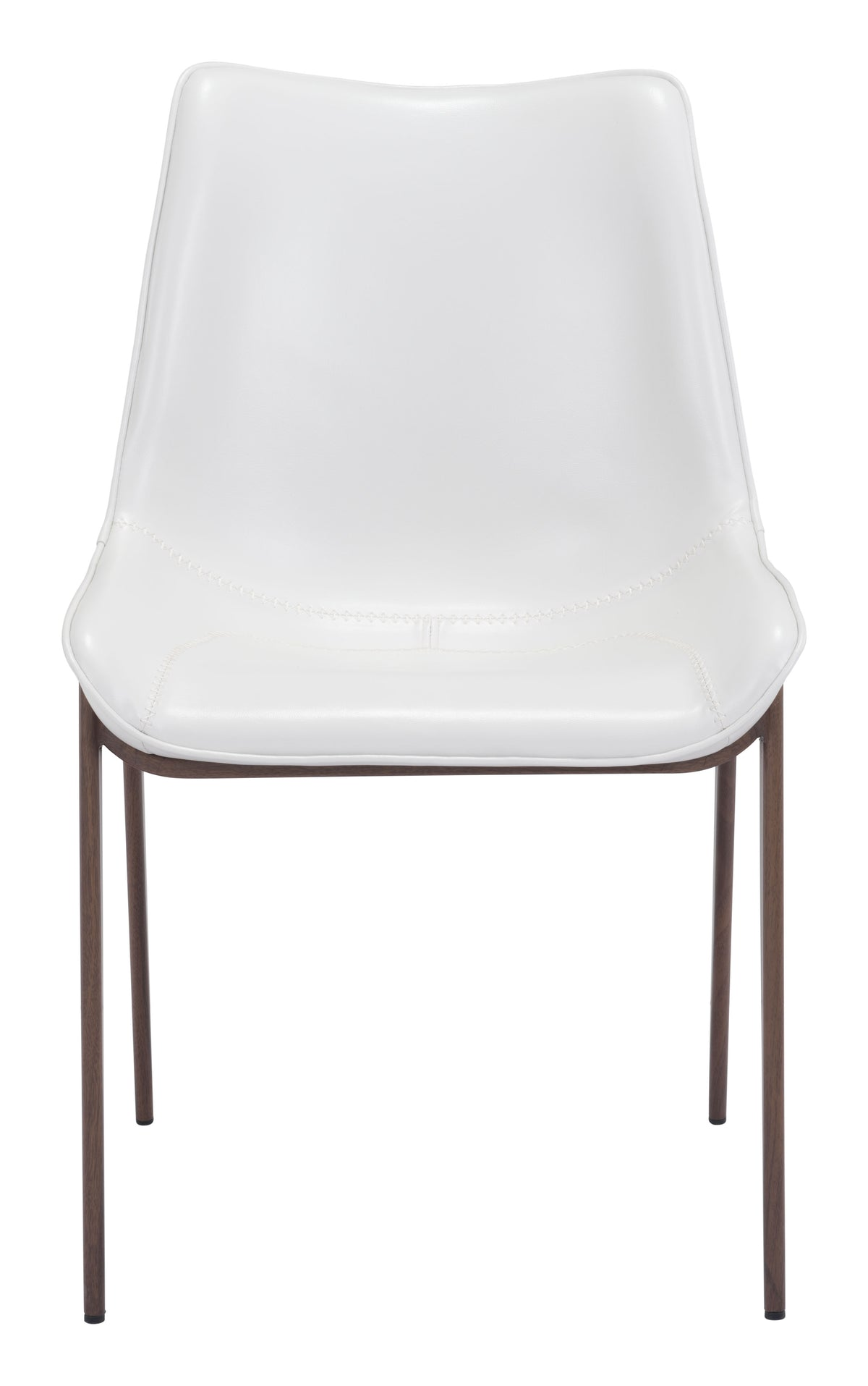 Bori Dining Chair White & Walnut - Set of 2