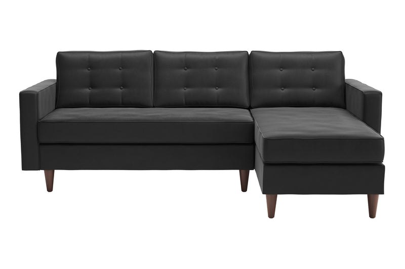 Lignum Sectional Charcoal Velvet