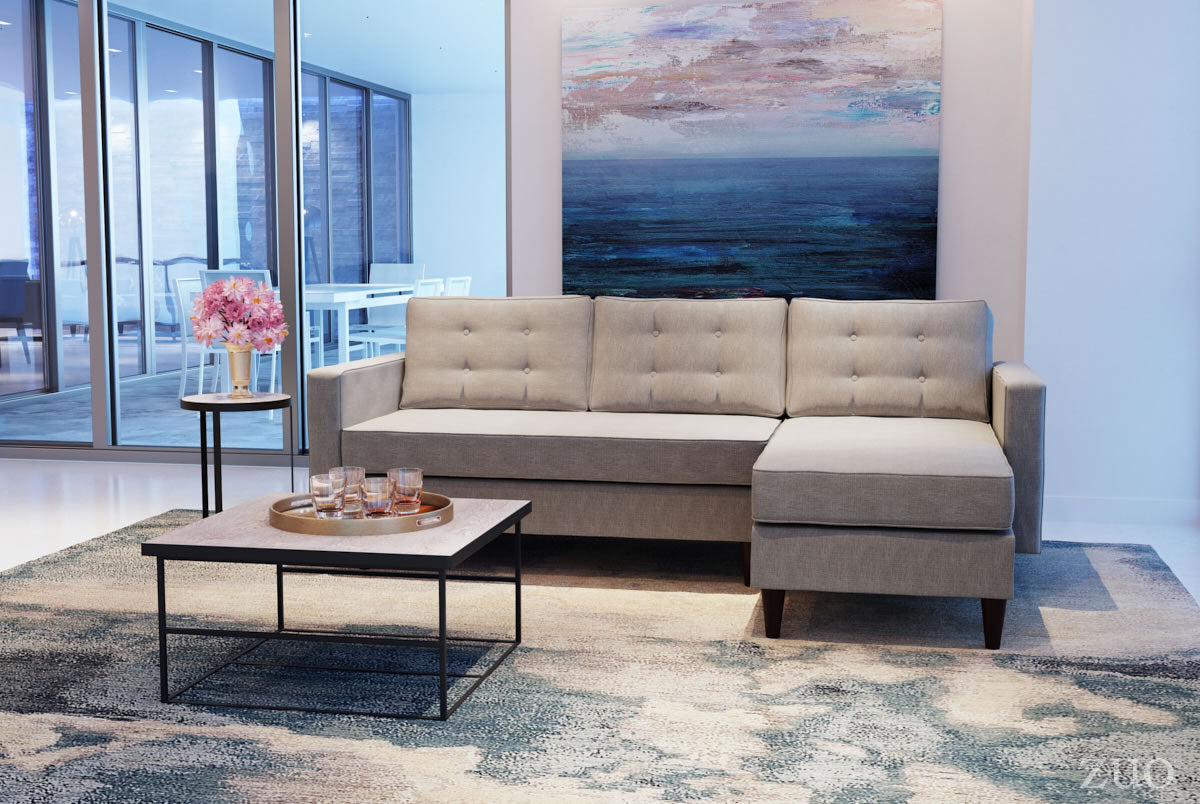 Lignum Sectional Ash Gray