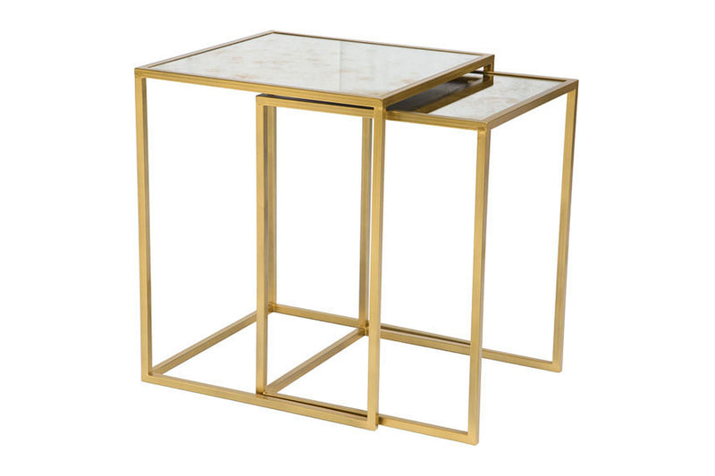 Oviedo Nesting Tables Brass